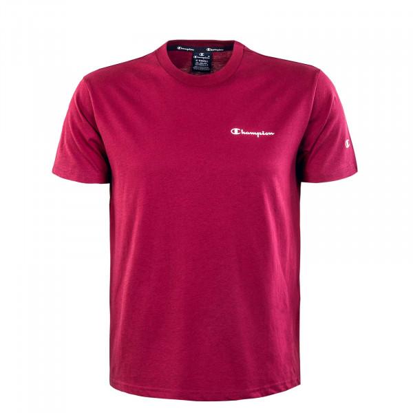 Herren T-Shirt - Crewneck - Bordeaux
