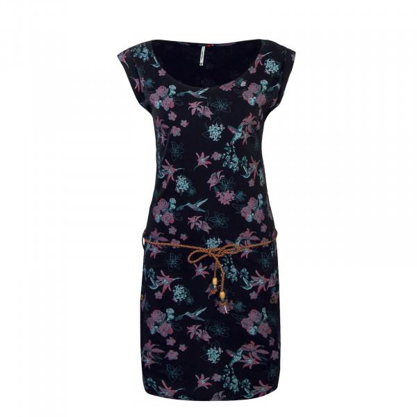 Dress Tag Flowers Black