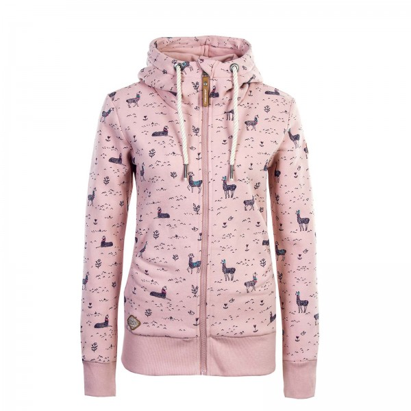 Ragwear Wmn Sweatjkt Zip Angel Rose