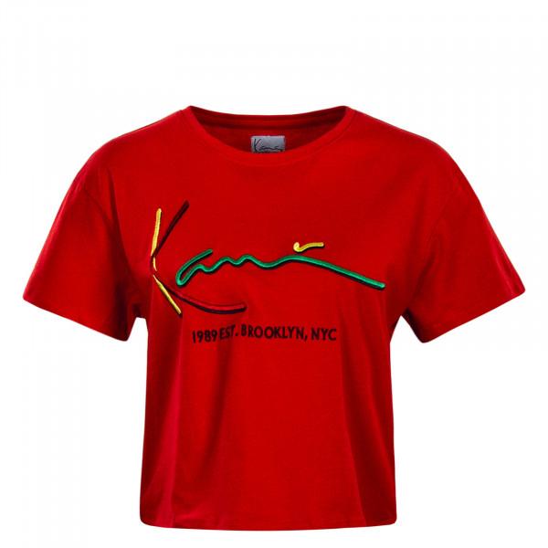 Damen T-Shirt Signature Red