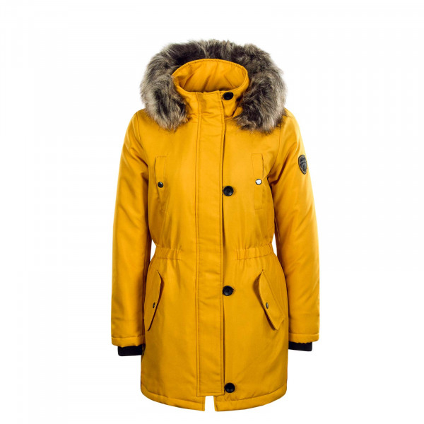 Damen Mantel Iris Fur Yellow