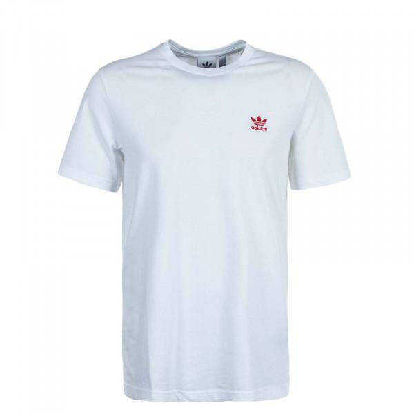 Herren T-Shirt Essential GD 2534 White Scarlet