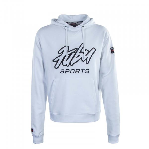Herren Hoody Sports White Black