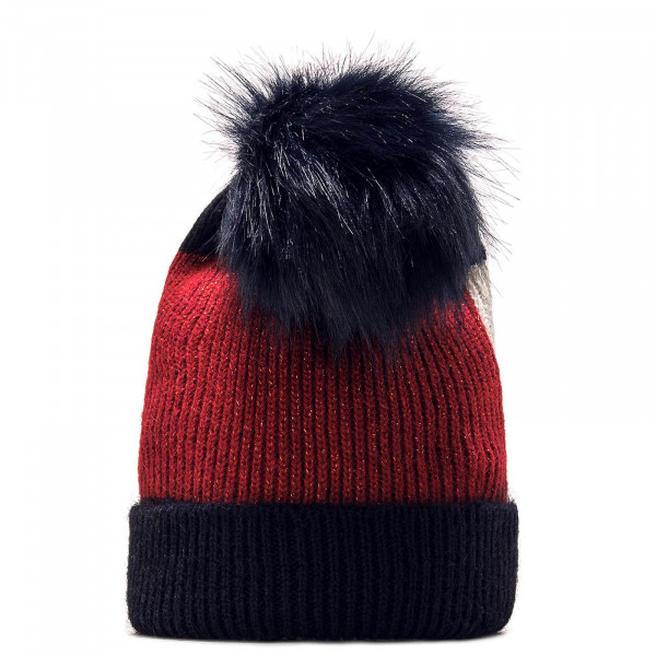 Tommy Wmn Beanie Luxury Navy Red White