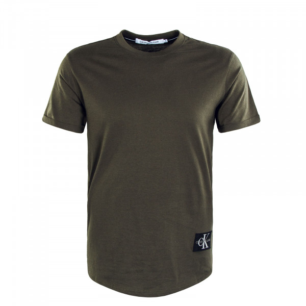 Herren T-Shirt Badge Turn Up Sleeve Deep Depths
