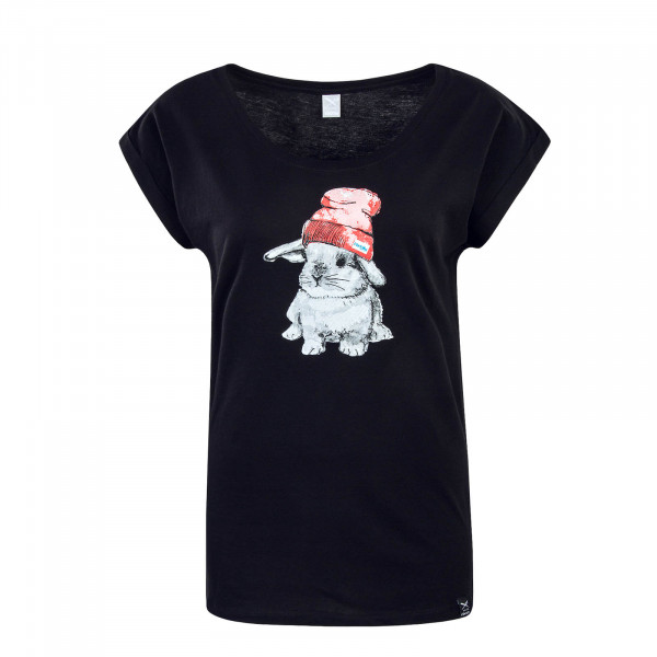 Damen T-Shirt It Hasi Black