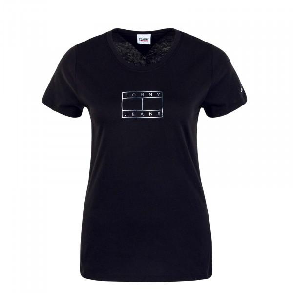 Damen T-Shirt TJW Outline Flag Black