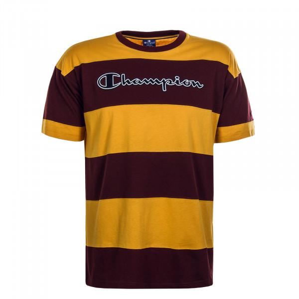 Herren T-Shirt 214097 Yellow Bordeaux