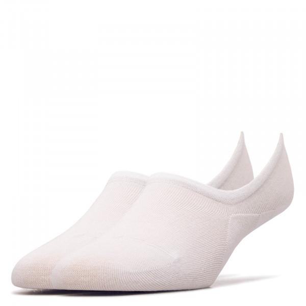 2er-Pack Damen Socken Footie White