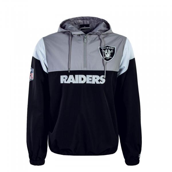 New Era Windreaker Raiders Grey Black