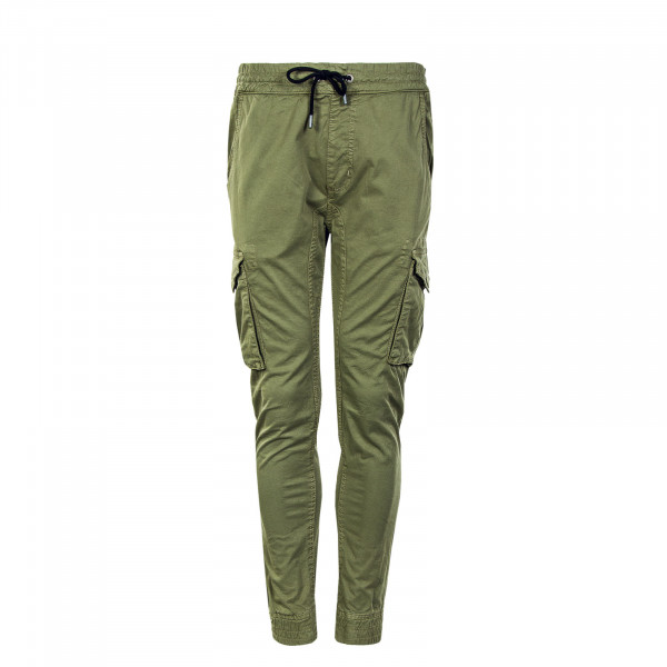 Herren Trainingshose - Cotton Twill Jogger - Olive