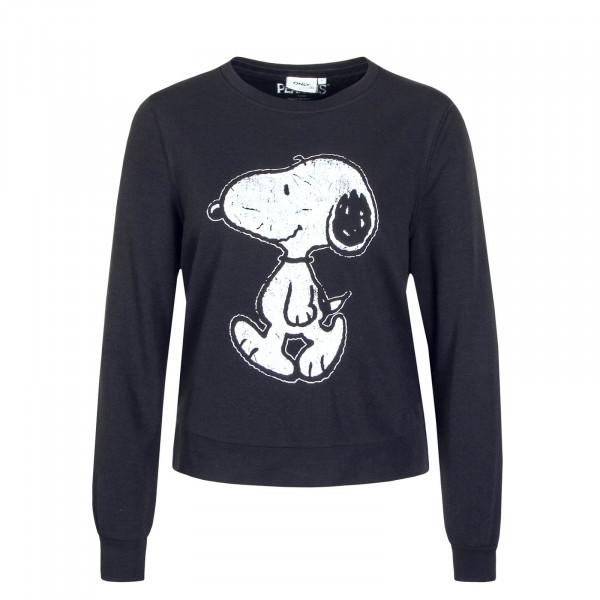Damen Sweatshirt Peanuts Life Black Print Walking