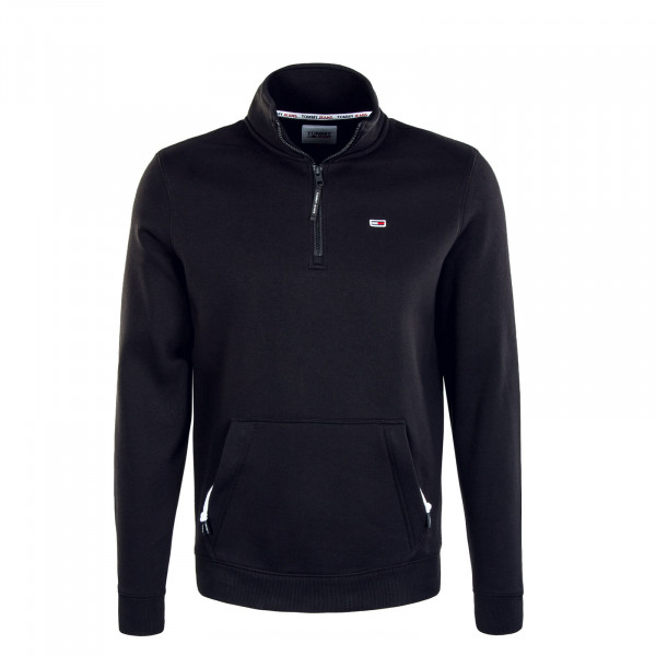 Herren Pullover - Detail Mock Neck - Black