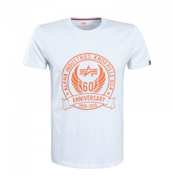 Herren T-Shirt Anniversary White Orange
