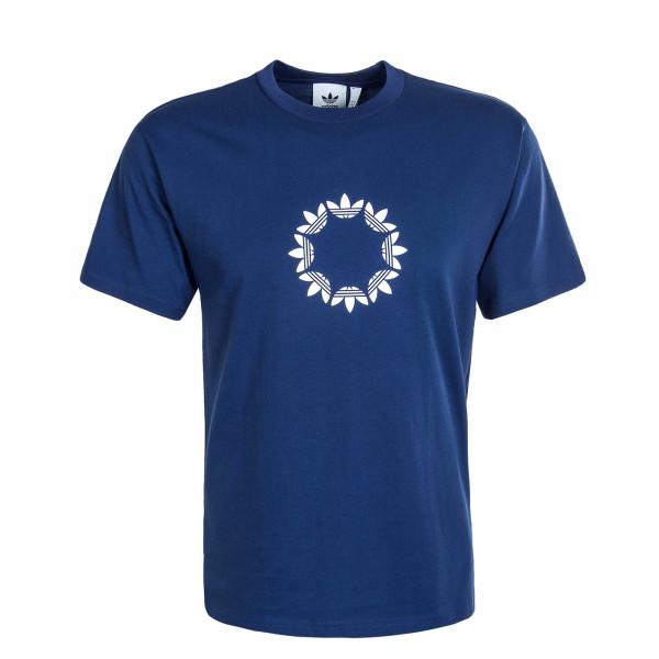 Herren T-Shirt Skate Pinwheel Navy White