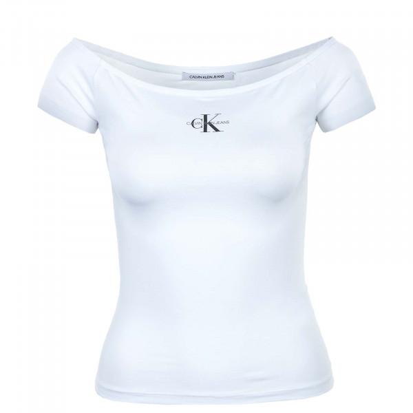 Damen T-Shirt - Monogram Slim Bardot 7165 - White