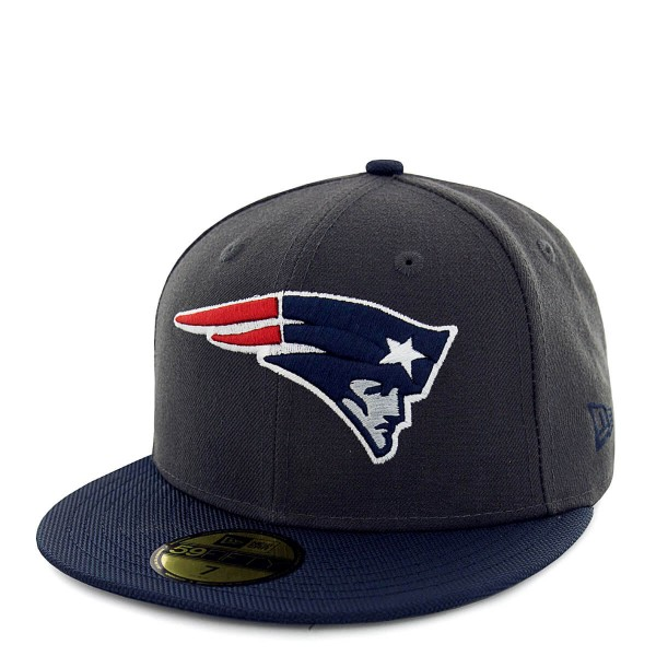 Cap 59Fifty New England Patriots Grey Navy