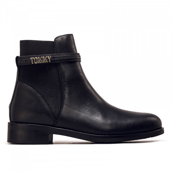 Damen Boots Flat Block Branding Black