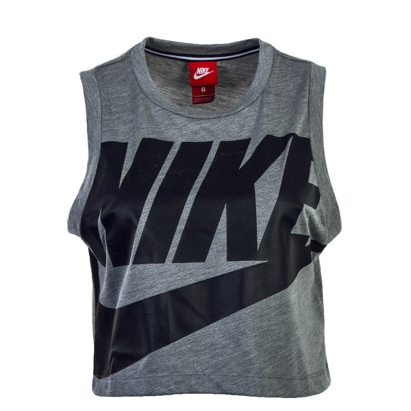 Nike Wmn Top Crop NSW Essntl HBR GreyBlk