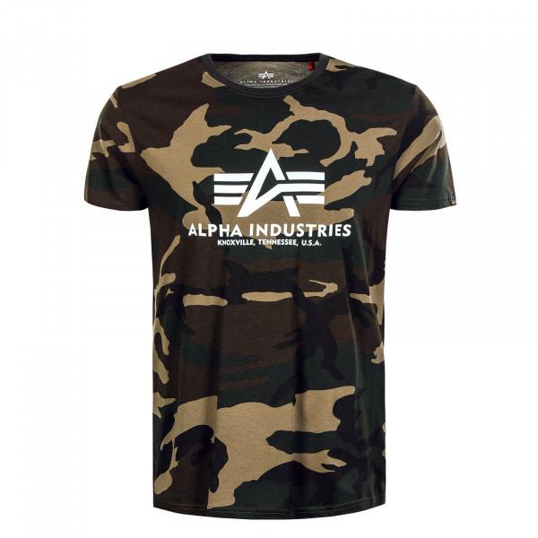 Herren T-Shirt Basic Camouflage Woodland 65