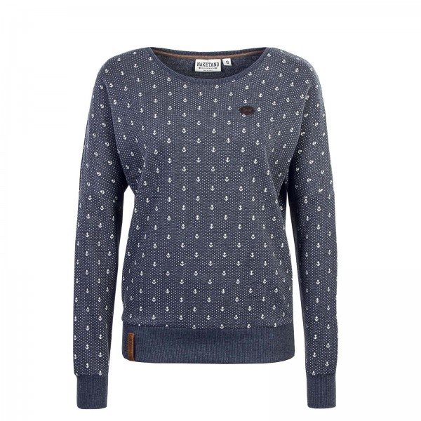 Naketano Wmn Sweat Jane Forensik Blue