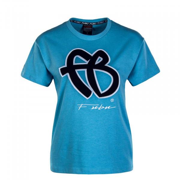 Damen T-Shirt Classic 32006 Blue Black White