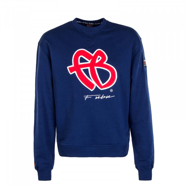 Herren Sweat Classic 32002 Navy Red White