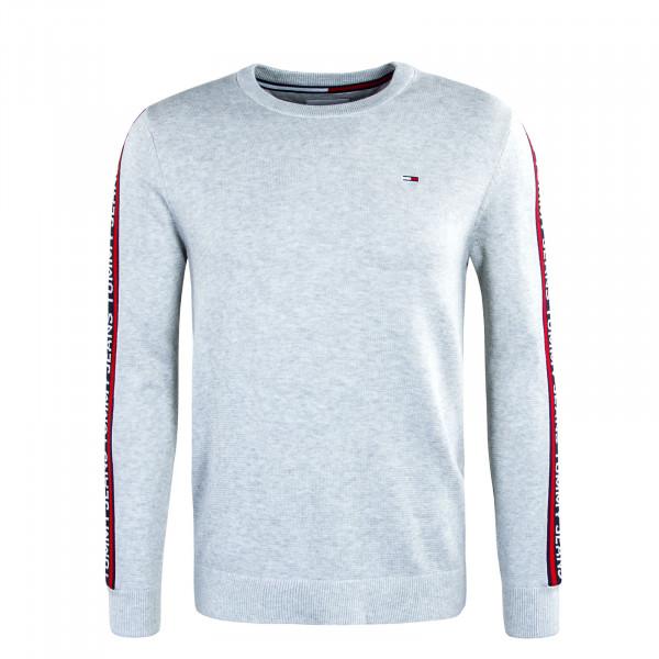 Herren Sweatshirt TJM Sleeve Tape Knit Sweat Silver Grey