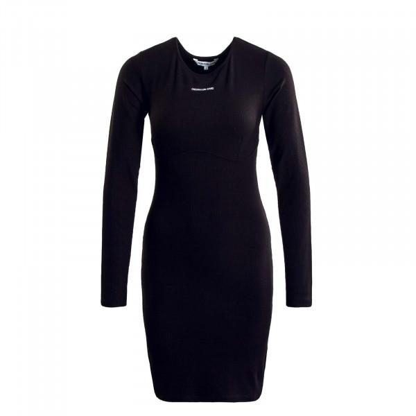 Damen Kleid - Underwire LS Rib Dress - Black