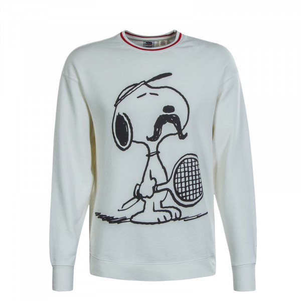 Herren Sweat Relax Tennis Snoopy Mars Off White