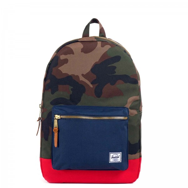 Herschel Backpack Settlement CamoNavyRed - Rucksack