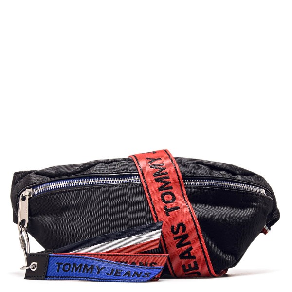 Tommy Hip Bag Logo Tape Black Red
