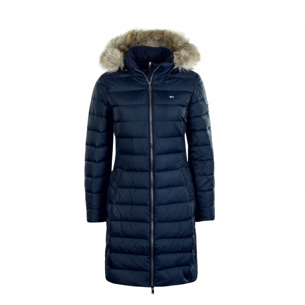 Damen Mantel Essential Hooded Navy