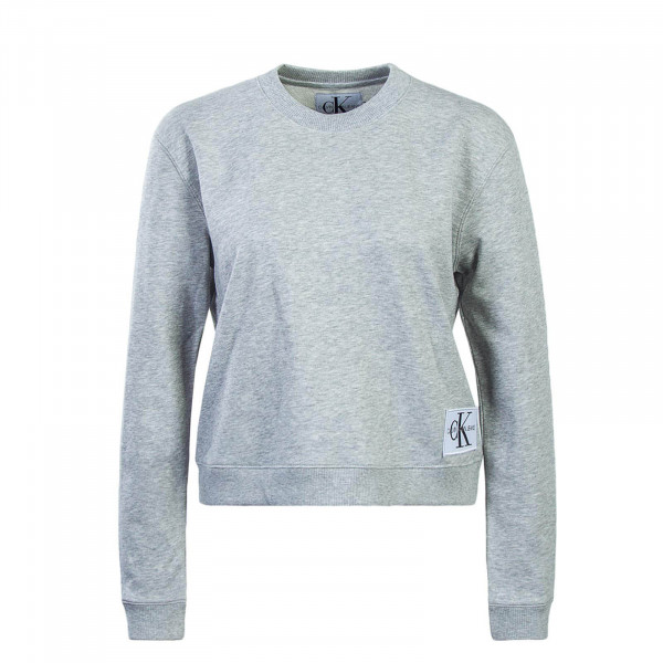 CK Wmn Sweat Boxy CN Monogram Light Grey