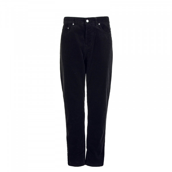 Carhatt Newel Pant Cotton Corduroy 8 Wales Black