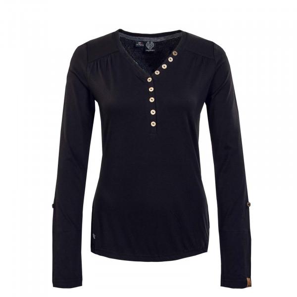 Damen Longsleeve - Pinch Solid - Black