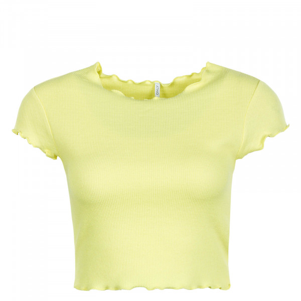 Damen T-Shirt Crop Kitty Yellow
