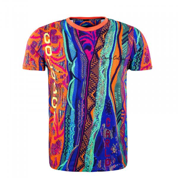 Herren T-Shirt - Green / Orange / Blue