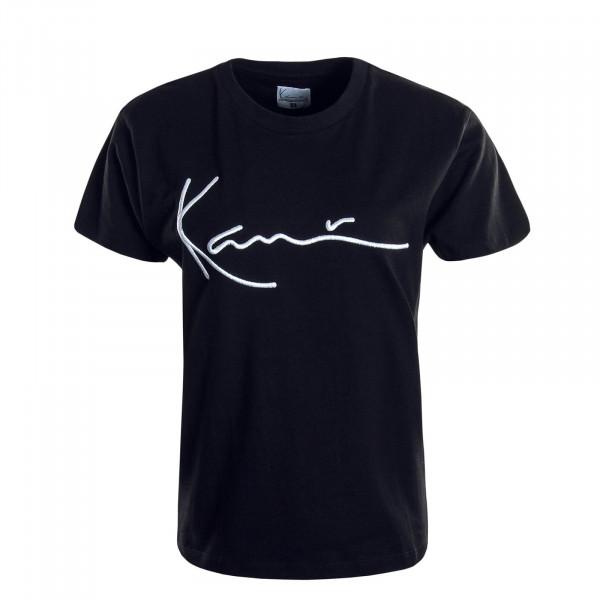 Damen T-Shirt Signature Black White