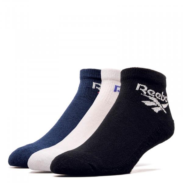 Reebok Socks 3Pk CL Lost Found BlkWhtNay