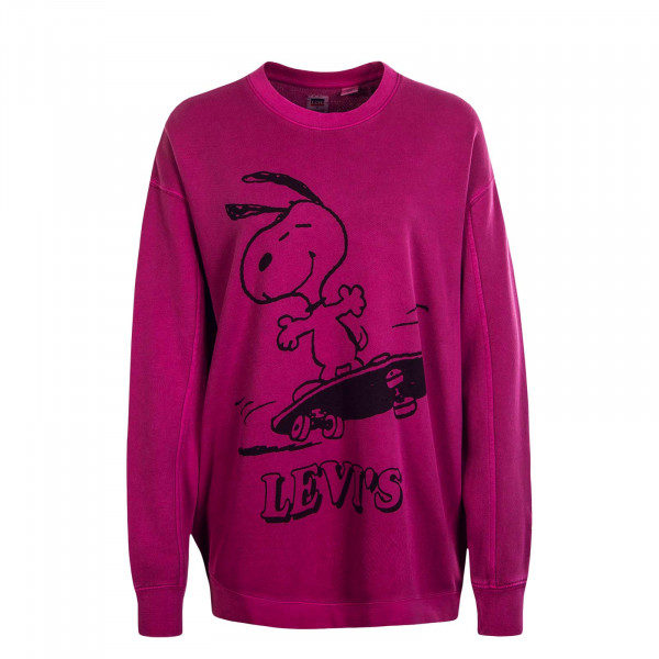 Damen Sweat Crew Snoopy Pink