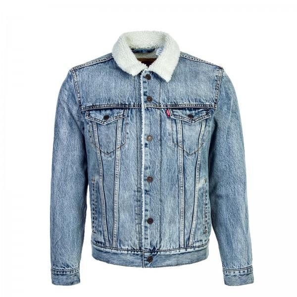 Levis Jeans Jkt Sherpa Trucker Fine Blue