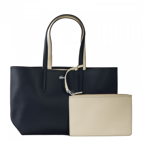 Lacoste Shopping Bag Black Warm Sand