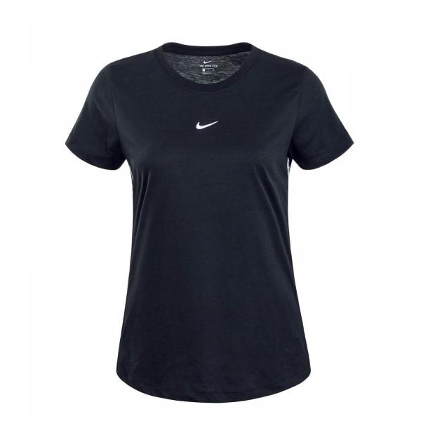 Damen T-Shirt Tape Black