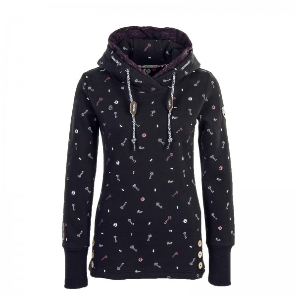 Ragwear Wmn Hoody Elvie Black Key