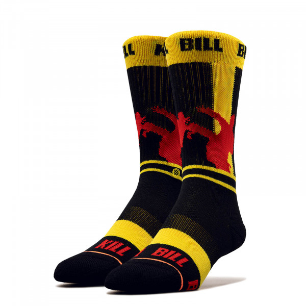 Socken Kill Bill Silhouette Yellow Black