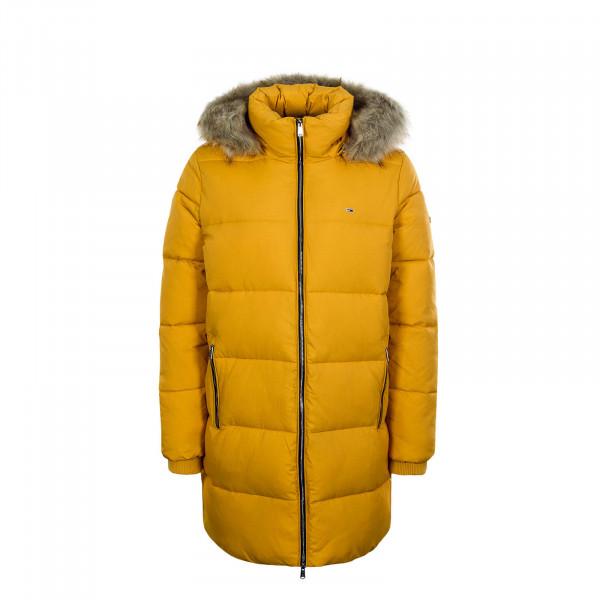 Damen Mantel Modern Puffa Golden Yellow