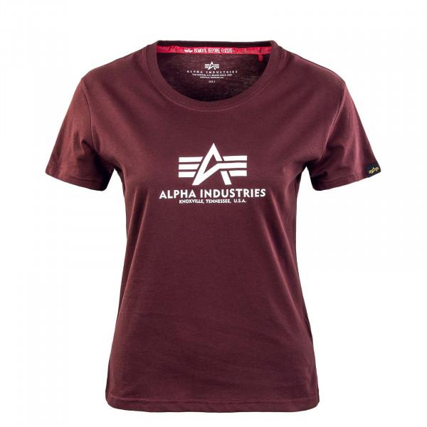 Damen T-Shirt New Basic Deep Maroon