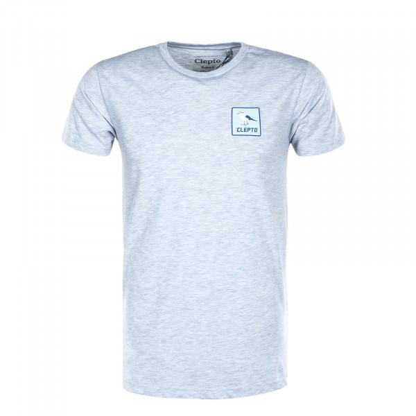 Herren T-Shirt Basic Run Gull Light Heather Grey