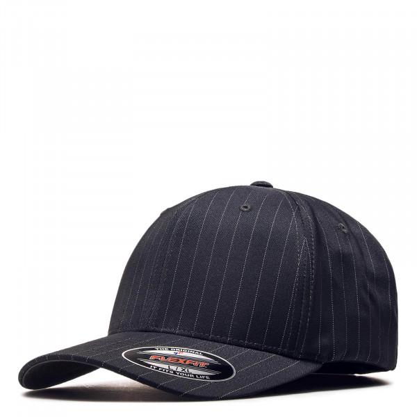 Lifestyle Cap Pin Stripe 6195 DkGreyWhit